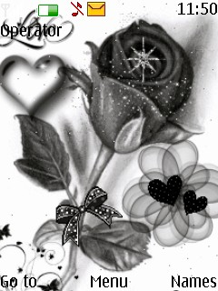 Black And White Rose Mobile Theme