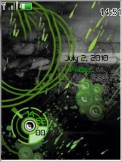 Neon Clock Mobile Theme