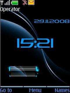 Battery Blue Mobile Theme