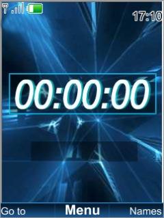 Blue Date Clock Mobile Theme