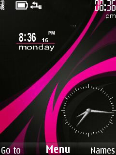 Nokia Abstract Clock Mobile Theme