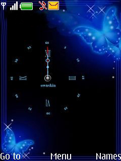 Butterfly Clock Mobile Theme