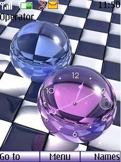 Swf Crystal Clock Mobile Theme