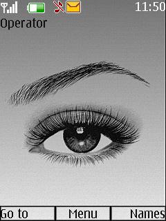 Girl Eye Mobile Theme