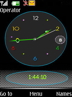 Flash Analog Clock Mobile Theme