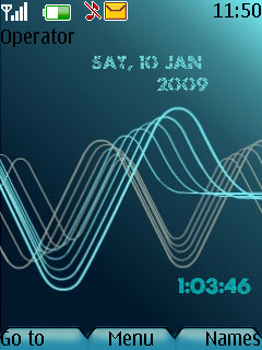 Swf Neon Waves Mobile Theme