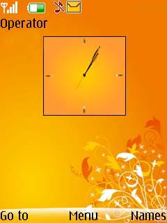 Orange Abstract Mobile Theme