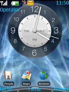 Blue 3G With Tone Mobile Theme
