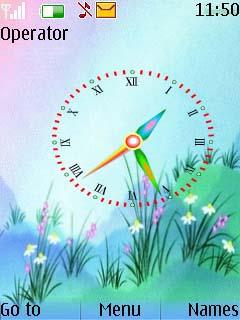 Flash Clock Colors Mobile Theme