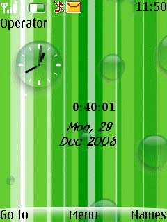 Swf Green Bubbles Mobile Theme