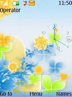 Swf Abstract Clock Mobile Theme