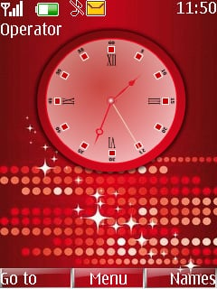 Animated Swf Red Clock Mobile Theme