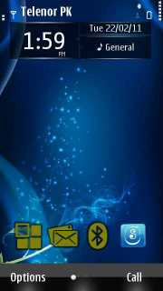 Blue Water Mobile Theme