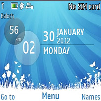Galaxy Blue Mobile Theme