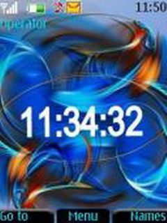 Blue Abstract Clock Mobile Theme