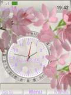 Flores Clock Mobile Theme