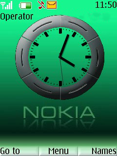 Simple Green Clock Mobile Theme