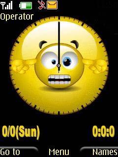 Swf Smiley Clock Mobile Theme