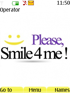 Please Smile For Me Mobile Theme