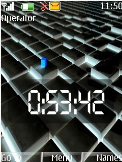 Black Clock Mobile Theme