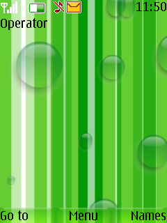 Green Drops Mobile Theme