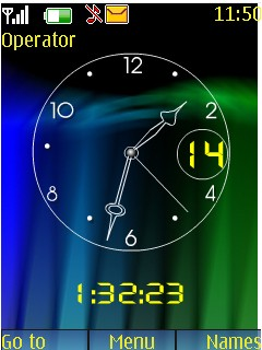 Abstract Clock Mobile Theme