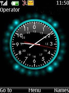 Colored Animated Clock Mobile Theme