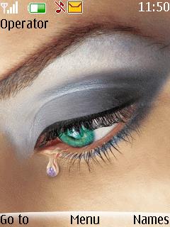 Animated Tear Mobile Theme