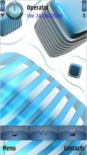 3d_stripes Mobile Theme