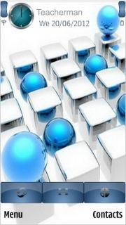 Blue-Balls_Cubes Mobile Theme