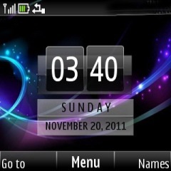 Abstract Color Clock Mobile Theme