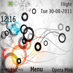 Abstract Cricles  Mobile Theme