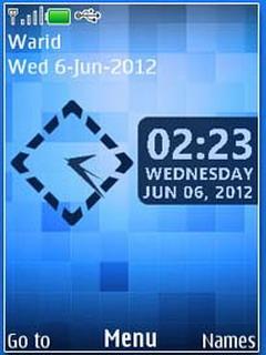Blue Murabba Mobile Theme