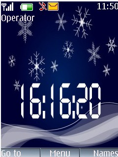 Star Clock Mobile Theme