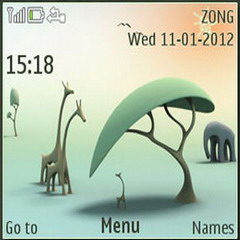 3D Zoo Mobile Theme