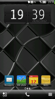 Black Squares Mobile Theme