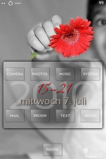 Dbar Child Red Flower Mobile Theme