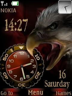 Eagle Dual Clock Mobile Theme