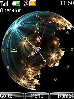 Globe Clock V2 Mobile Theme