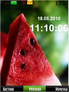 Watermelon Clock Mobile Theme