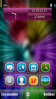 Colorful Vortex Mobile Theme