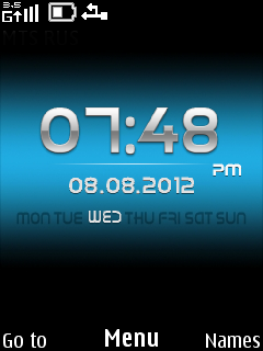 Black And Blue Mobile Theme