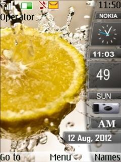 Yellow Lemon Mobile Theme