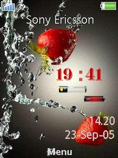 download berry new clock nokia theme mobile toones