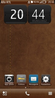 Brown Leather Mobile Theme