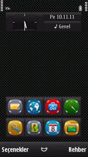 Black Shiny Mobile Theme