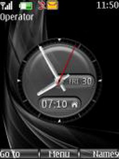Elegance Clock Mobile Theme