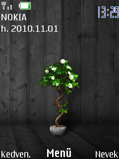 Dark Wood Plant Mobile Theme
