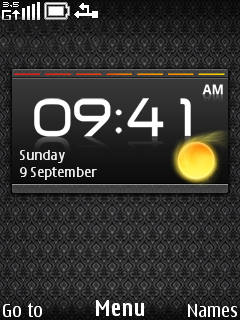 Stand Clock Mobile Theme