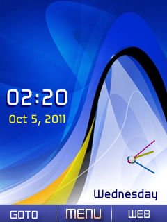Nokia Blue Dual Clock Mobile Theme